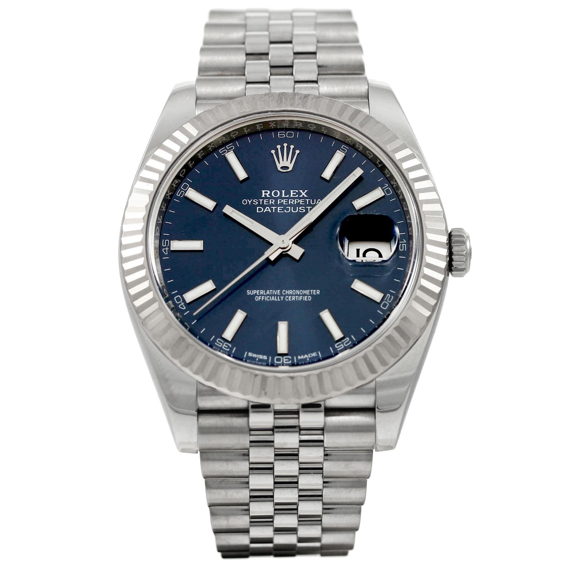 Rolex Datejust 41MM Blue Dial 126334 - Van Wonderen Watches